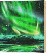 Aurora Borealis  Wood Print