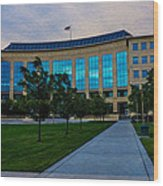 Aurora Municipal Center Hdr Wood Print