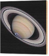 Aurora On Saturn Wood Print