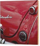 Austin-healey Tail Light And Emblem Wood Print