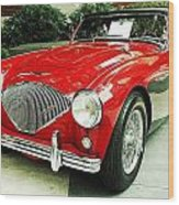 Austin Healy Wood Print by Cathie Tyler