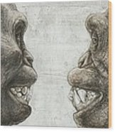 Australopithecus And Chimpanzee Teeth Wood Print