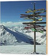 Austria Mountain Road Show Wood Print