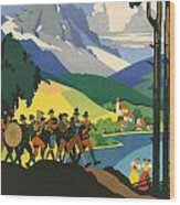 Austrian Alps Wood Print