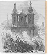 Austrian Revolution, 1848. Conflict At The University Of Vienna, Austria, During The Revolution Of 1848. Wood Engraving From A Contemporary English Newspaper Wood Print