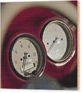 Auto Meter Dashboard Guages Wood Print