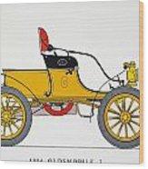 Auto: Oldsmobile, 1904 Wood Print