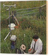 Automated Weather Monitoring Station Wood Print