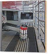 Automatic Milking Machine Wood Print