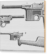 Automatic Pistols Wood Print
