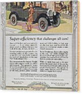 Automobile Ad, 1926 Wood Print