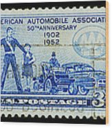 Automobile Association Of America Wood Print