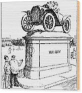 Automobile Cartoon, 1914 Wood Print