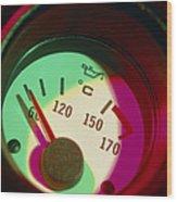 Automobile Oil Temperature Gauge; Low Temperature Wood Print