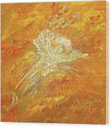 Autum Angel Wood Print by Judy M Watts-Rohanna