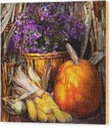 Autumn - Autumn Is Festive  Wood Print