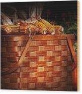 Autumn - Gourd - Fresh Corn Wood Print