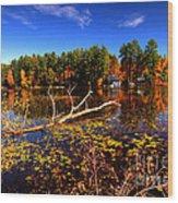Autumn At Bomoseen Lake  Wood Print