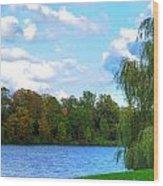 Autumn At Hoyt Lake Wood Print