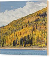 Autumn At Huntington Reservoir - Wasatch Plateau - Utah Wood Print