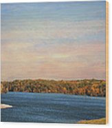 Autumn At Lake Graham Wood Print