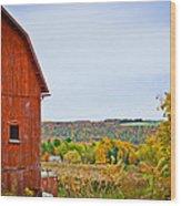 Autumn At The Farm Wood Print