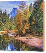 Autumn At Yosemite Wood Print