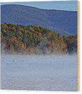 Autumn Backdrop Wood Print