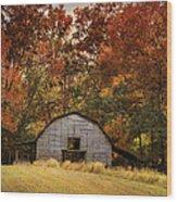 Autumn Barn Wood Print