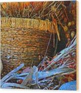 Autumn Basket Wood Print