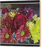 Autumn Boquet Wood Print