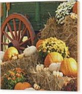 Autumn Bounty Vertical Wood Print