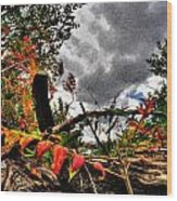 Autumn Breeze Through The Trees    Alt Wood Print