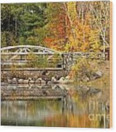 Autumn Bridge Wood Print