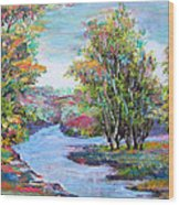 Autumn Brilliant Color Wood Print