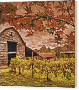 Autumn Cabernet Wood Print