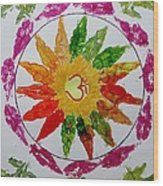Autumn Chakra Wood Print by Sonali Gangane