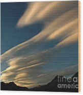 Autumn Clouds Jasper 1 Wood Print
