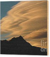 Autumn Clouds Jasper 2 Wood Print