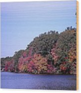 Autumn Colors On The Lake Wood Print