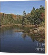 Autumn Day At The Lake In Algonquin Provincial Park Wood Print