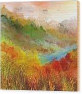 Autumn Daze Wood Print