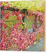 Autumn Decoration Wood Print