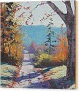 Autumn Delight Wood Print by Graham Gercken