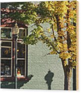 Autumn Detail In Old Town Grants Pass Wood Print