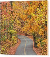 Autumn Drive Signal Mountain Wood Print