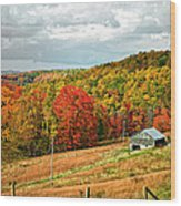 Autumn Farm 2 Wood Print