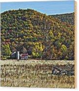 Autumn Farm Painted Wood Print