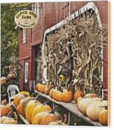 Autumn Farm Stand  Wood Print