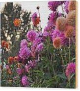Autumn Flowers Wood Print by Sarai Rachel